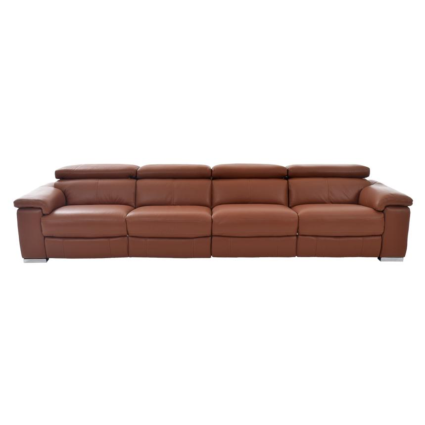 Nathan Tan Oversized Leather Sofa  alternate image, 4 of 6 images.