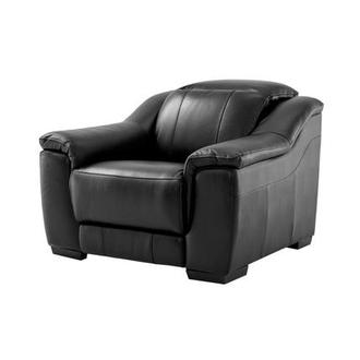 Davis Black Power Motion Leather Recliner