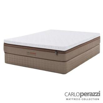 Naples Hybrid Queen Mattress Set w/Regular Foundation by Carlo Perazzi