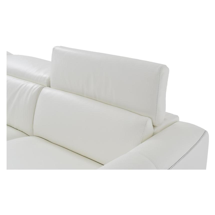 Bay Harbor White Leather Sleeper w/Storage  alternate image, 4 of 9 images.