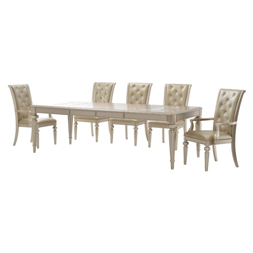 Dynasty 5-Piece Formal Dining Set  alternate image, 3 of 14 images.