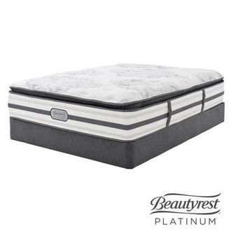 Stone Mountain Queen Mattress Set w/Low Foundation by Simmons Beautyrest Platinum