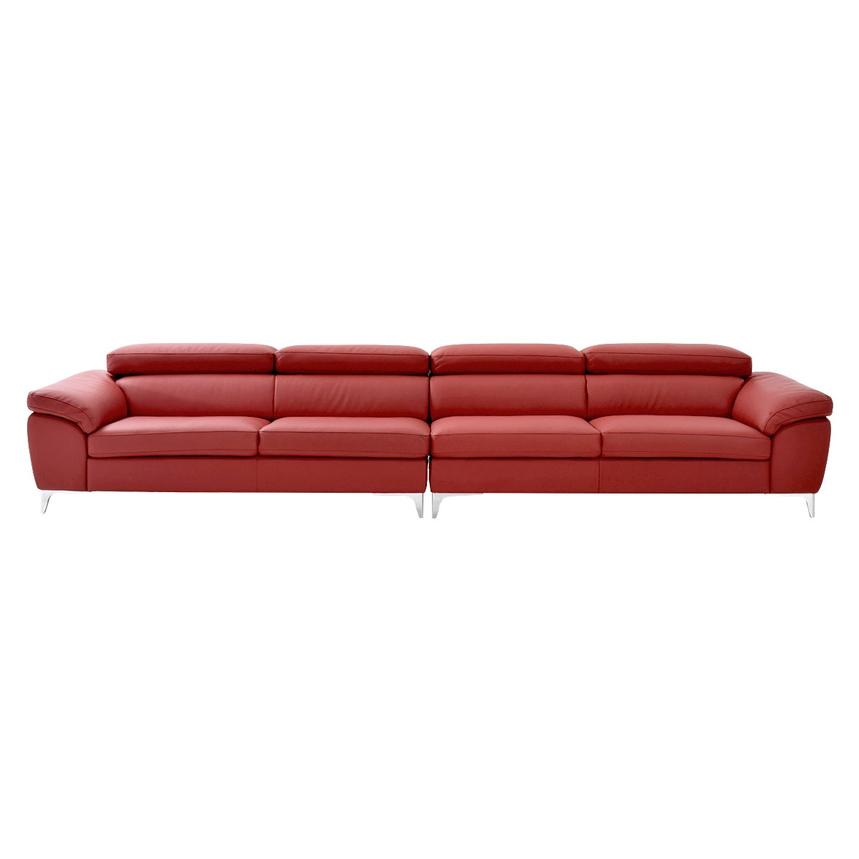Costa Red Oversized Sofa  alternate image, 3 of 7 images.