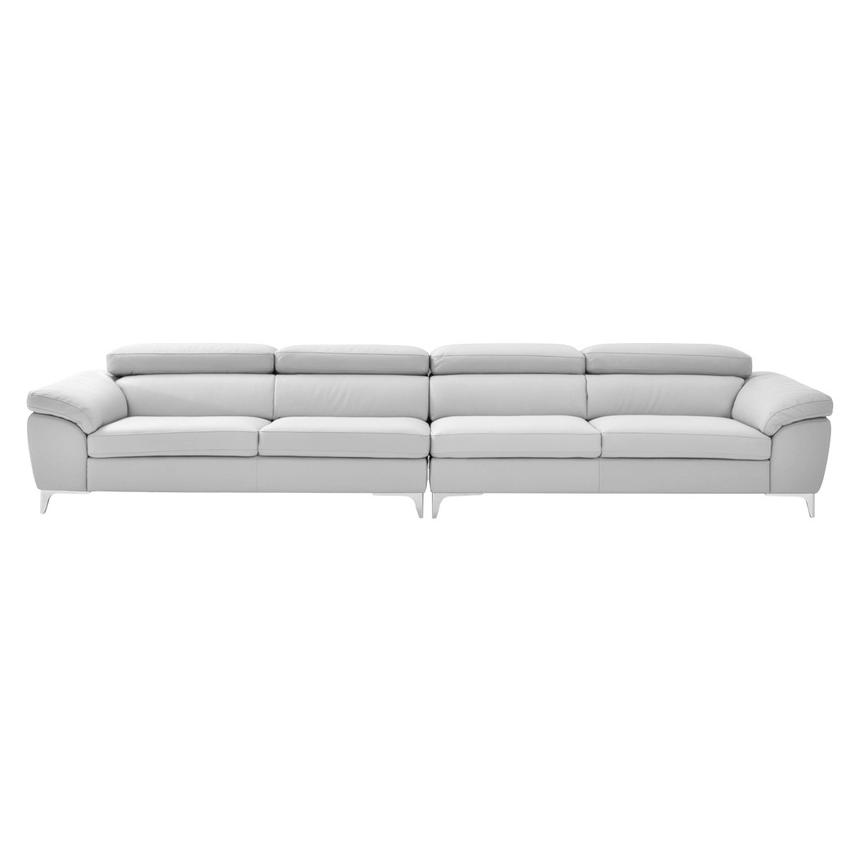 Costa White Oversized Sofa  alternate image, 3 of 7 images.