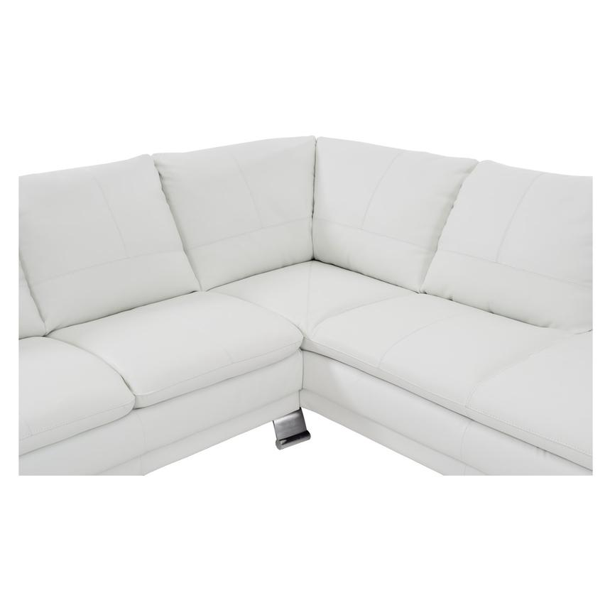 Rio White Leather Sofa w/Right Chaise  alternate image, 4 of 7 images.