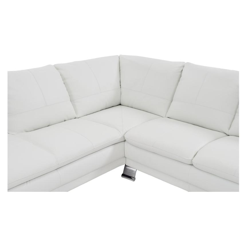 Rio White Leather Sofa w/Left Chaise  alternate image, 4 of 8 images.