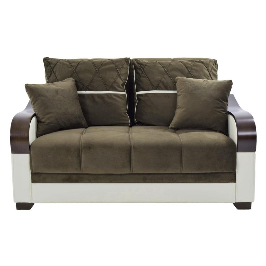 Bennett Futon Loveseat w/Storage  alternate image, 4 of 7 images.