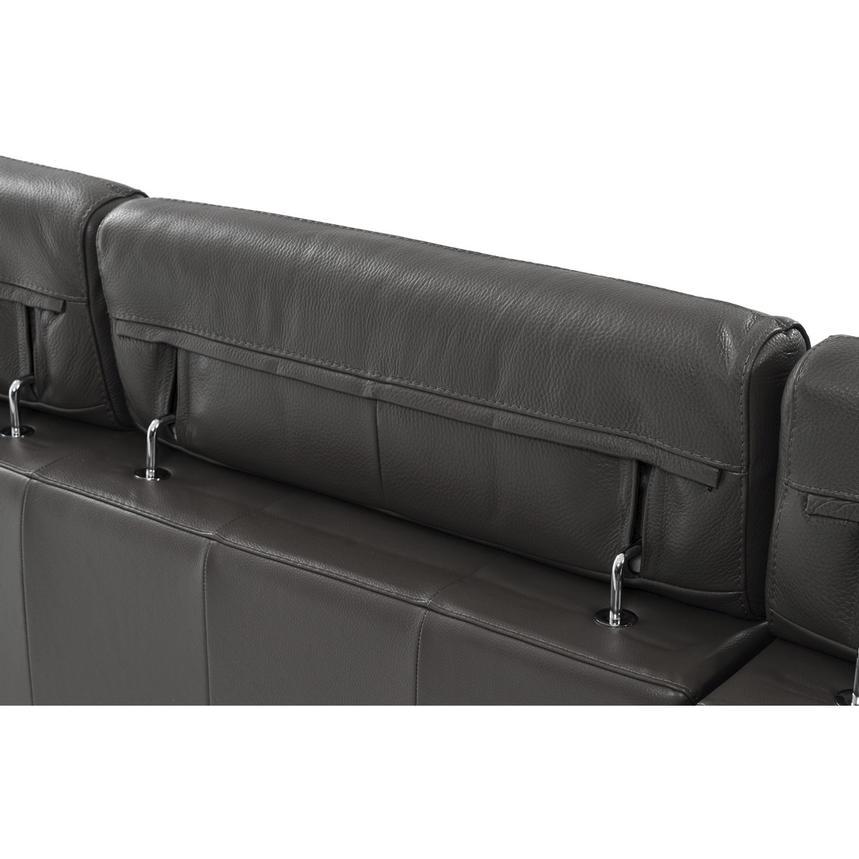 Kennedy Dark Gray Oversized Leather Sofa El Dorado Furniture