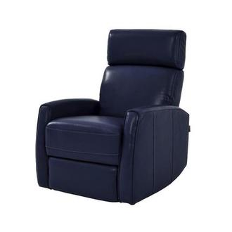 Lucca Blue Power Motion Leather Recliner