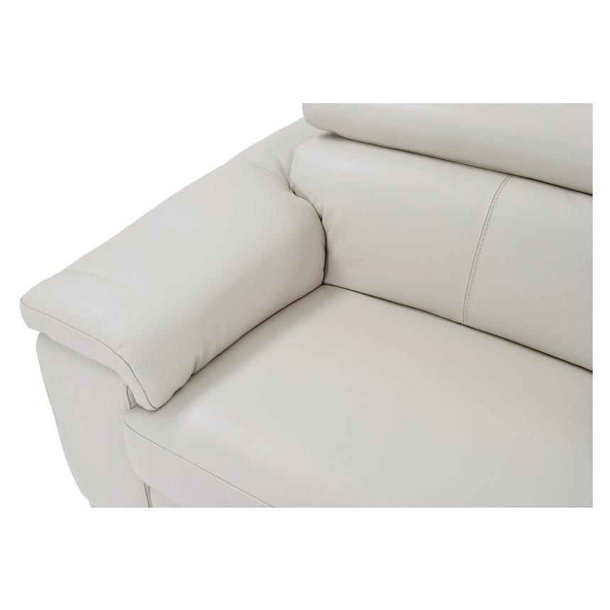 Nathan Cream Power Motion Leather Sofa w/Console  alternate image, 8 of 11 images.