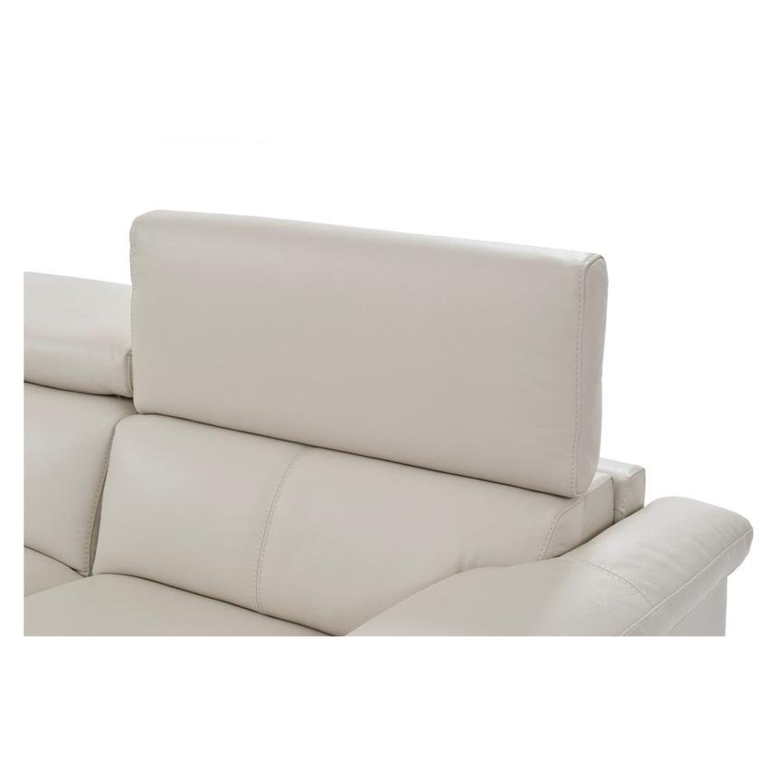 Nathan Cream Power Motion Leather Sofa w/Right & Left Recliners  alternate image, 4 of 10 images.