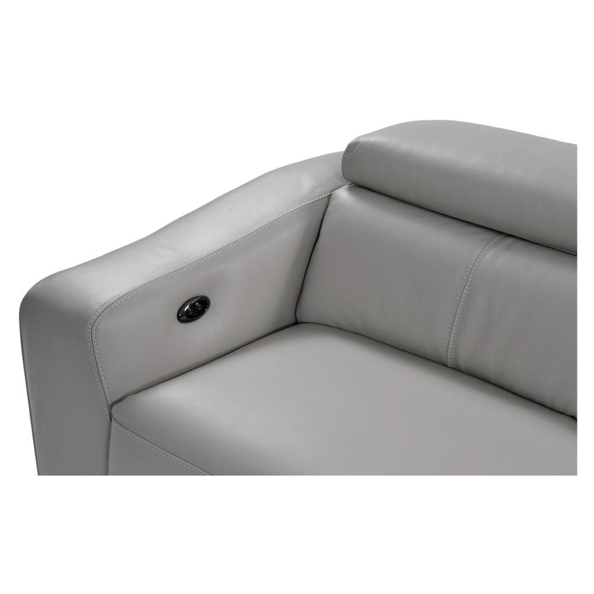 James Gray Power Motion Leather Sofa w/Right & Left Recliners  alternate image, 4 of 8 images.