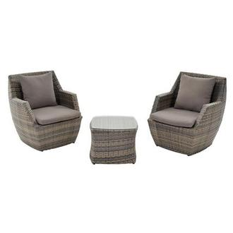 Neilina Brown 3 Piece Patio Set