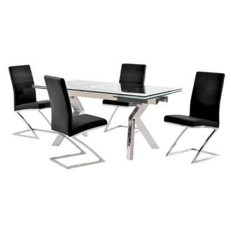Lynne Clear/Jade Black 5-Piece Formal Dining Set