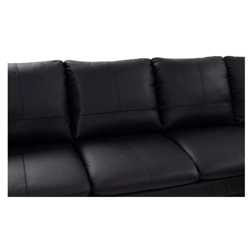 Rio Black Leather Sofa W Right Chaise Alternate Image 3 Of 7 Images
