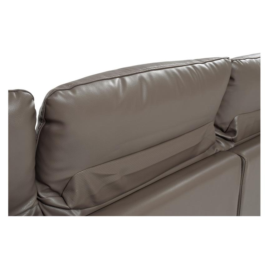 Gaspy Gray Power Motion Leather Sofa w/Right & Left Recliners  alternate image, 8 of 11 images.
