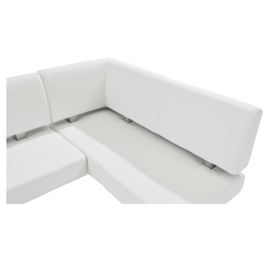 Lorange/Linden White Corner Nook Set w/Bench  alternate image, 8 of 13 images.