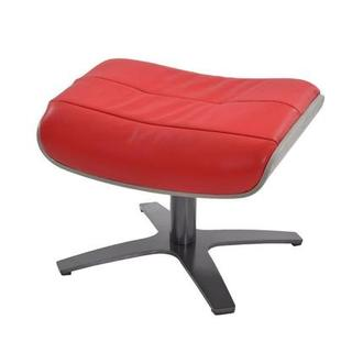 Enzo Red Leather Ottoman