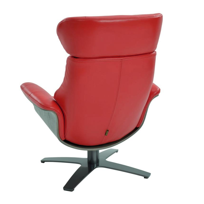 Enzo Red Leather Swivel Chair  alternate image, 4 of 10 images.