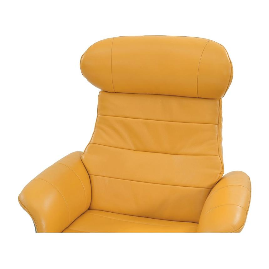 Enzo Yellow Leather Swivel Chair  alternate image, 5 of 10 images.