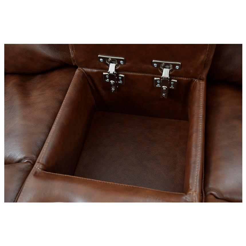 Durham Power Motion Leather Sofa w/Console  alternate image, 9 of 13 images.