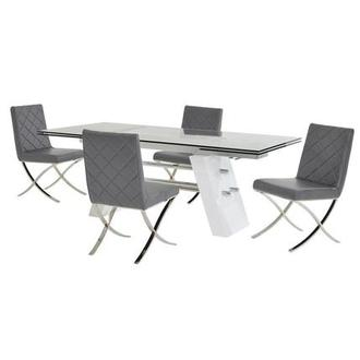 Slide Gray 5-Piece Formal Dining Set