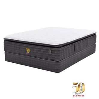 50th Anniversary Firm Full Mattress Set w/Low Foundation by Carlo Perazzi