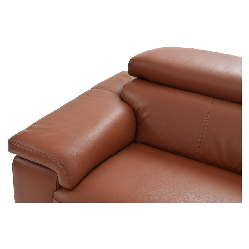 Nathan Tan Power Motion Leather Sofa w/Right & Left Recliners  alternate image, 3 of 5 images.
