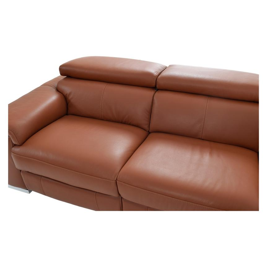 Nathan Tan Power Motion Leather Sofa W/Right U0026 Left Recliners Alternate  Image, 4