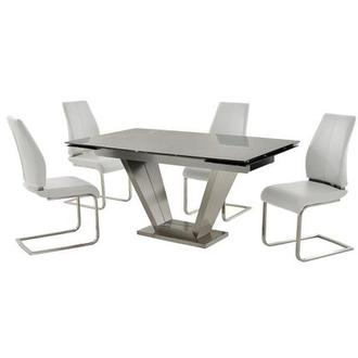 Jessy/Maday White 5-Piece Formal Dining Set