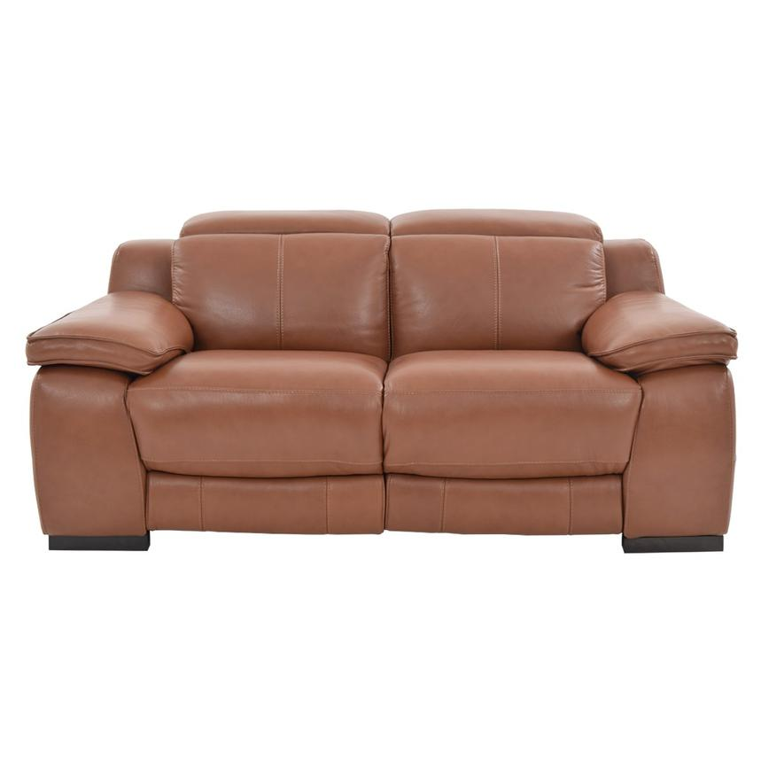 Gian Marco Tan Power Motion Leather Loveseat  alternate image, 3 of 8 images.