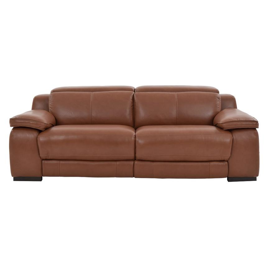 Gian Marco Tan Power Motion Leather Sofa  alternate image, 3 of 8 images.