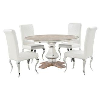 Wilma/Lizbon 5-Piece Formal Dining Set