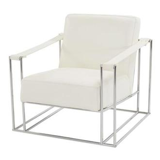 Miranda White II Leather Accent Chair