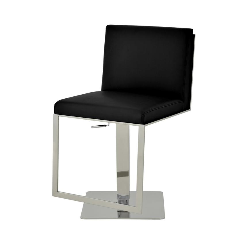 Aventura Black Adjustable Stool  alternate image, 3 of 6 images.