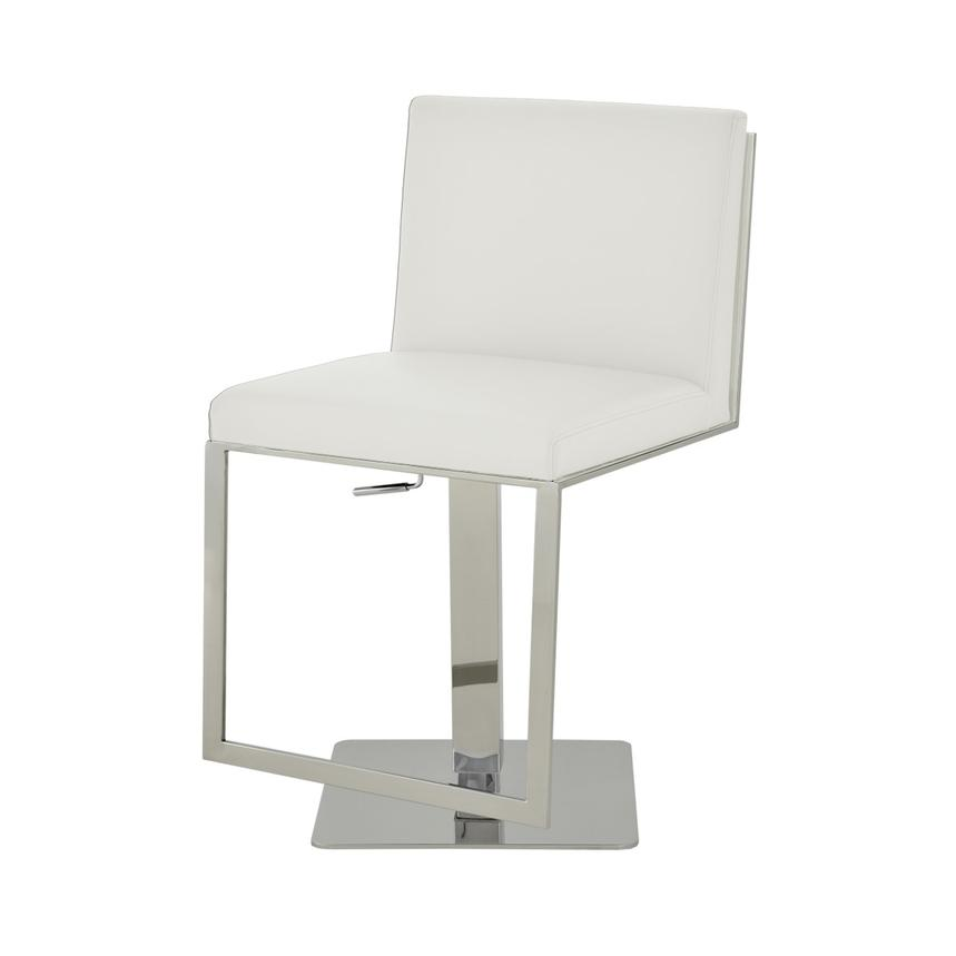 Aventura White Adjustable Stool  alternate image, 3 of 5 images.