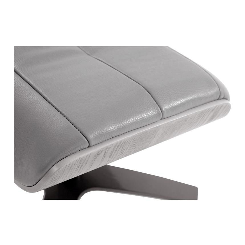 Enzo Gray Leather Ottoman  alternate image, 3 of 4 images.