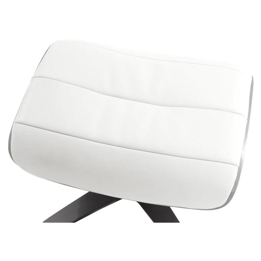 Enzo Pure White Leather Ottoman  alternate image, 3 of 6 images.