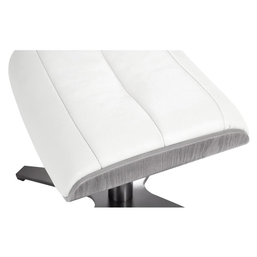 Enzo Pure White Leather Ottoman  alternate image, 4 of 5 images.