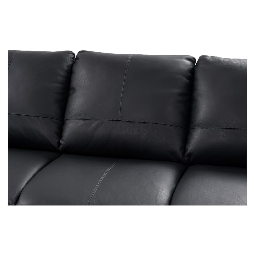 Rio Dark Gray Leather Sofa w/Left Chaise  alternate image, 3 of 8 images.