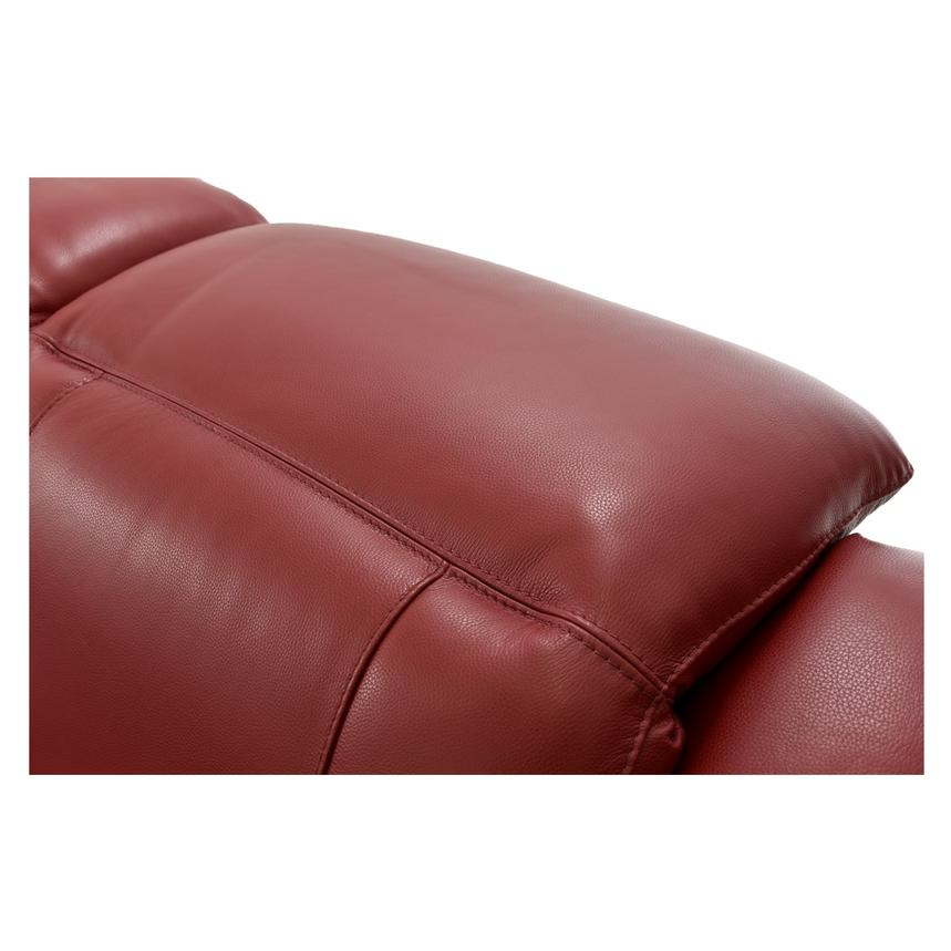 Davis Red Power Motion Leather Sofa w/Right & Left Recliners  alternate image, 8 of 13 images.