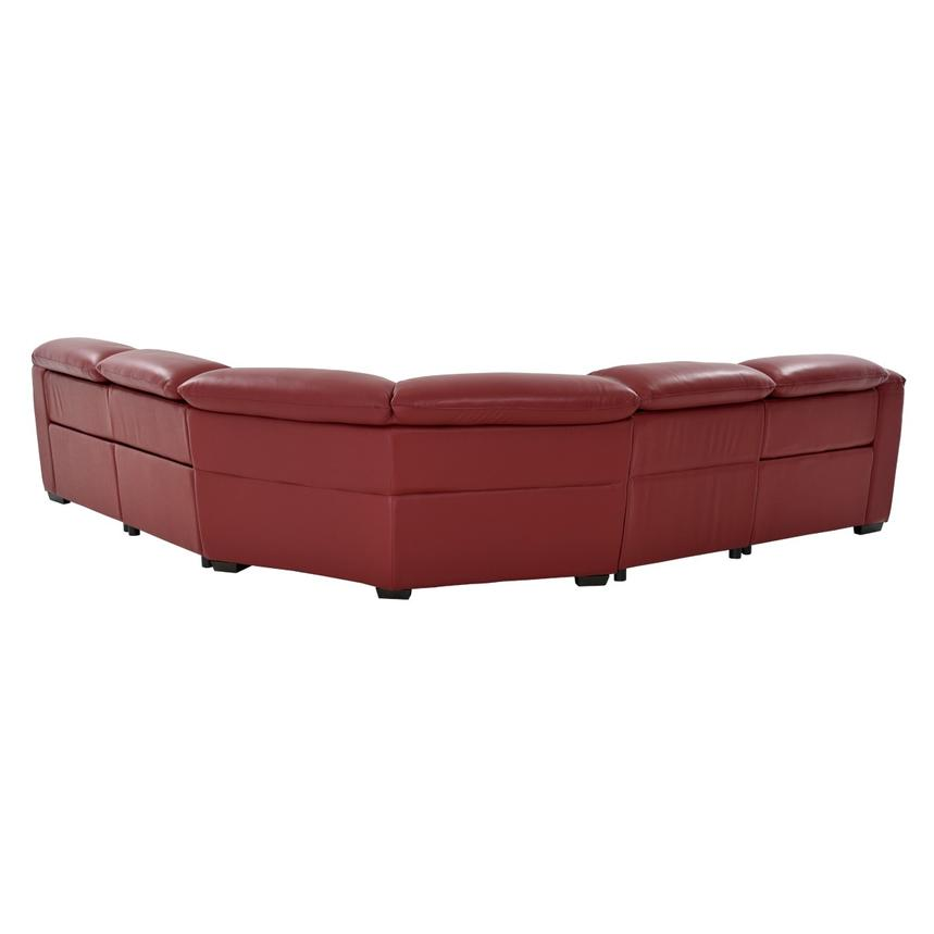 Davis Red Power Motion Leather Sofa w/Right & Left Recliners  alternate image, 3 of 12 images.