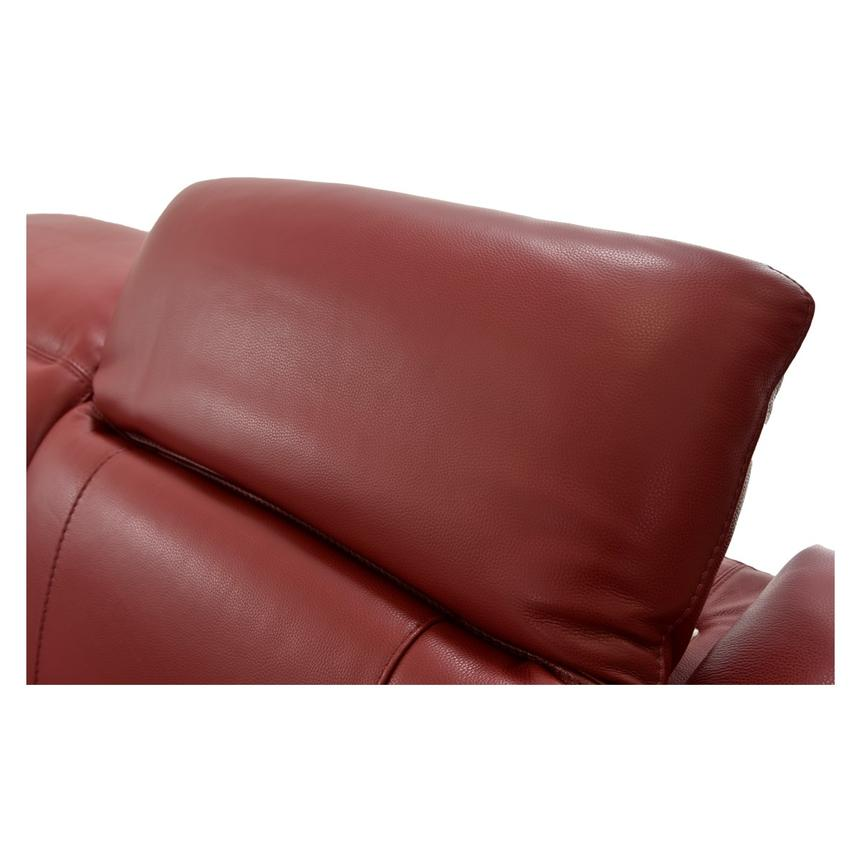 Davis Red Power Motion Leather Sofa w/Right & Left Recliners  alternate image, 8 of 12 images.