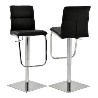 Colette Black Adjustable Stool