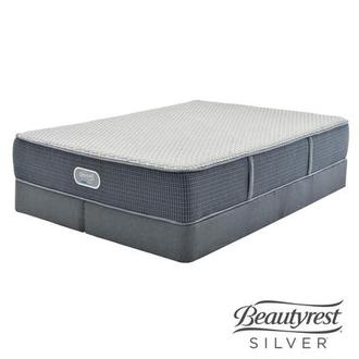 Marshall HB King Mattress w/Regular Foundation by Simmons Beautyrest Silver