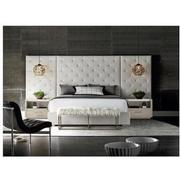 Modern Universe King Platform Bed w/Side Panels & Nightstands  alternate image, 2 of 6 images.