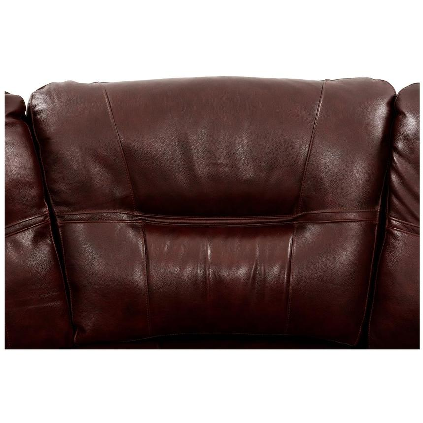 Houston Brown Power Motion Leather Sofa w/Console  alternate image, 4 of 9 images.