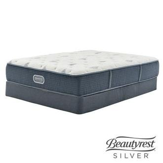 Bay Point Twin Mattress w/Low Foundation by Simmons Beautyrest Silver
