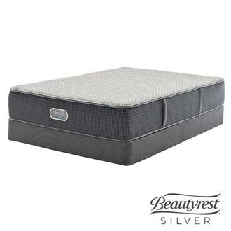 New London HB Full Mattress w/Low Foundation by Simmons Beautyrest Silver