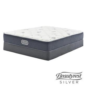 Ocean Springs Twin XL Mattress w/Low Foundation by Simmons Beautyrest Silver